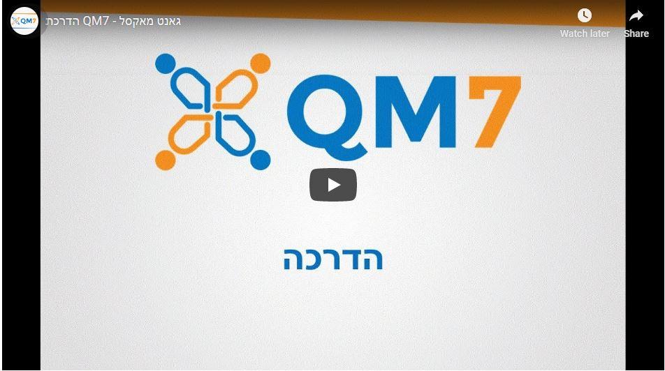 QM7  (תעדוף משימות)הדרכה: גאנטים, גאנטים בכל מקום!